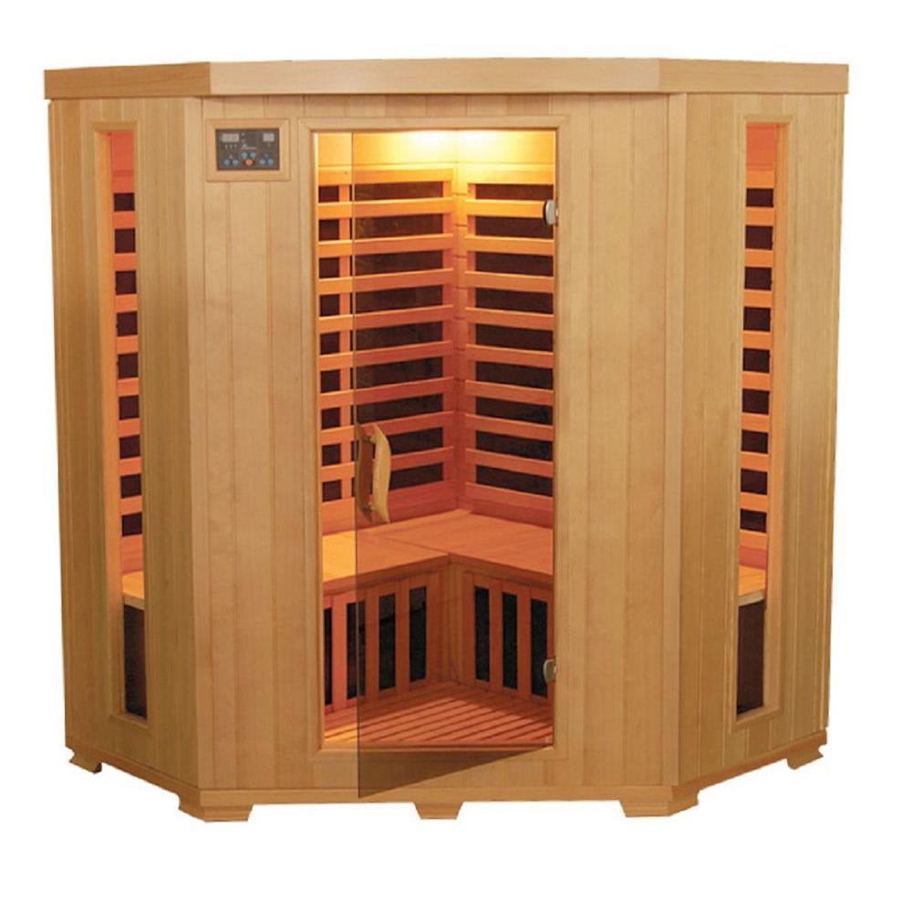 Mountain Ridge 3-Person Corner Carbon Heater Far Infrared Sauna