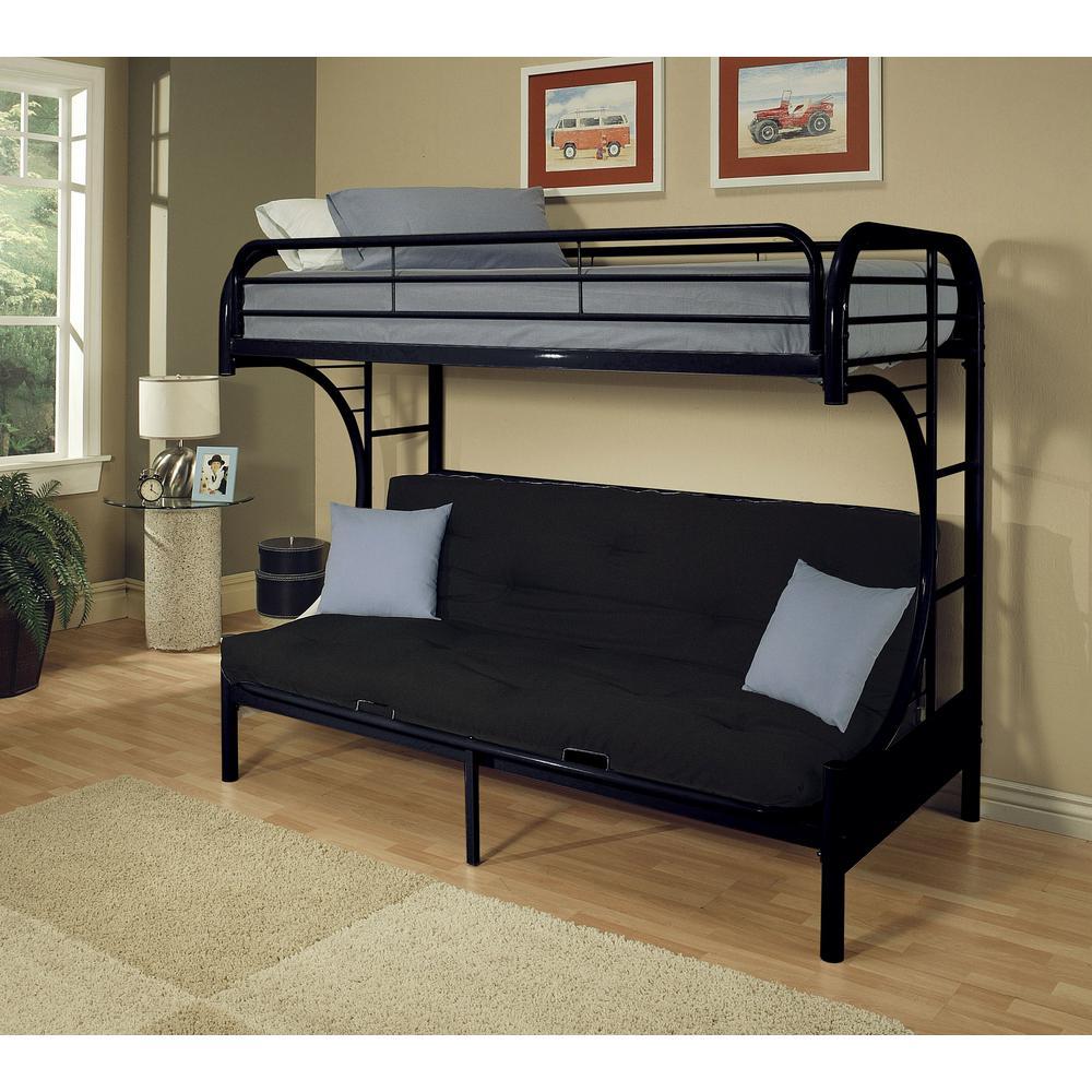 eclipse twin over queen metal kids bunk bed