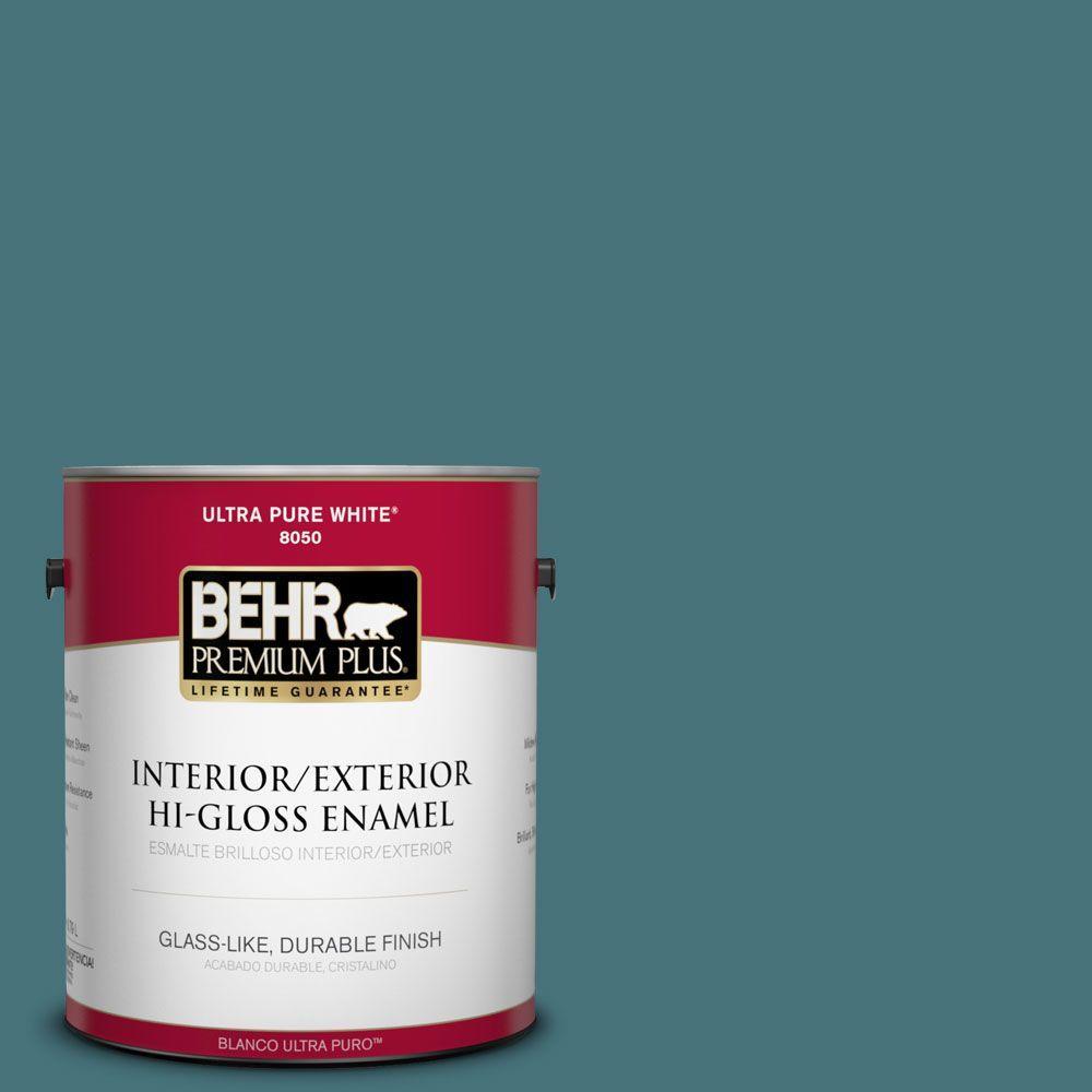 1 gal. #HDC-FL15-03 Blue Sage Interior/Exterior Hi-Gloss Enamel Paint