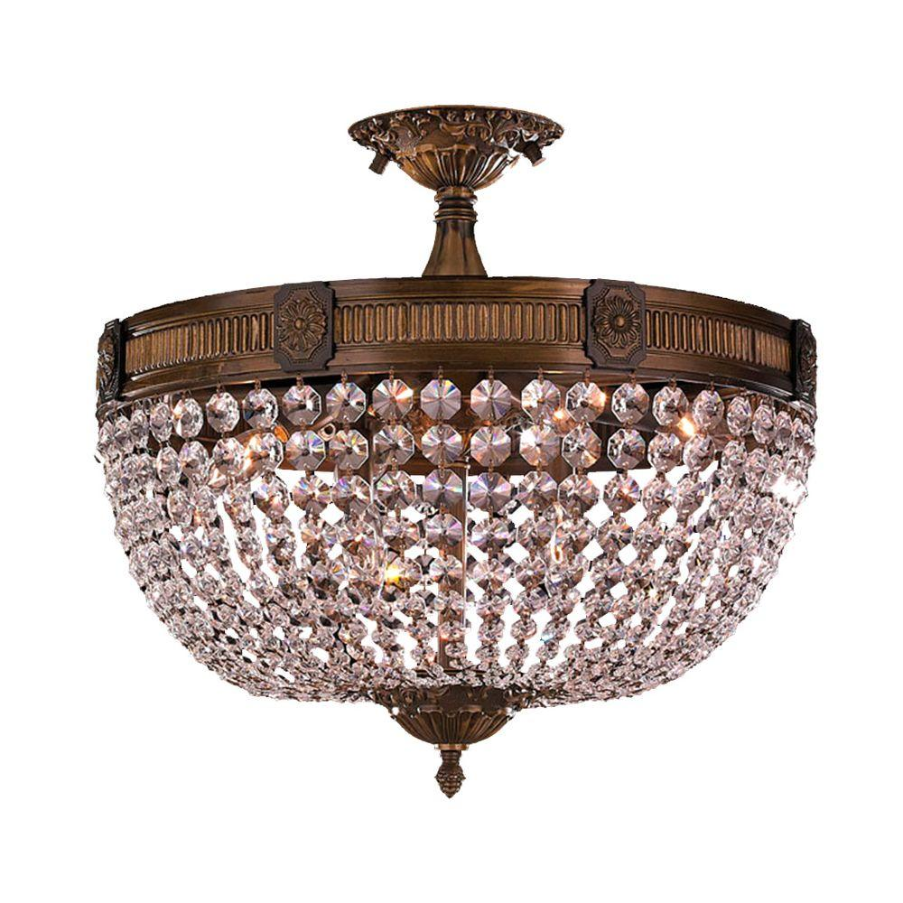 Worldwide Lighting Winchester 6Light Antique Bronze and Clear