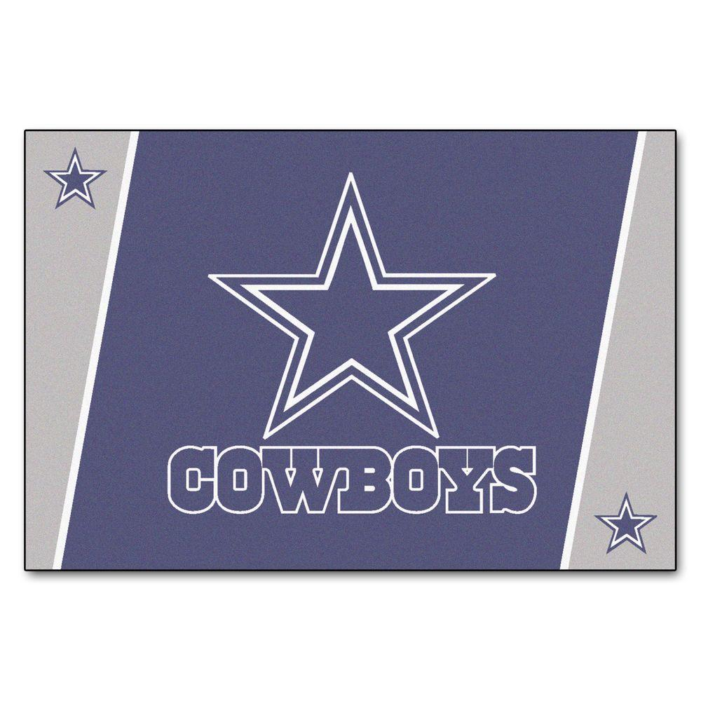 Fan Mats Dallas Cowboys 5 ft. x 8 ft. Area Rug, Team Colors
