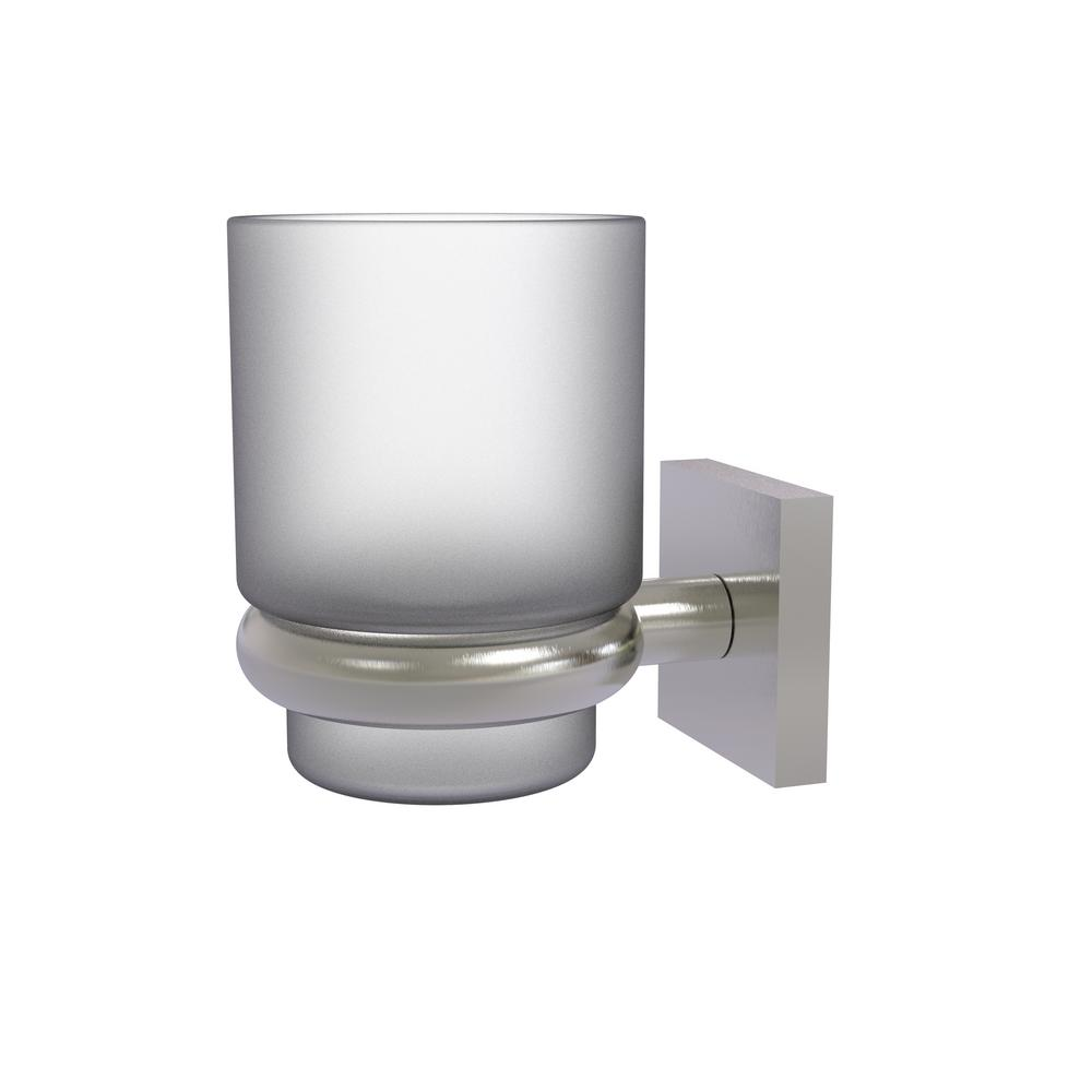 Montero Collection Wall Mounted Tumbler Holder in Satin Nickel