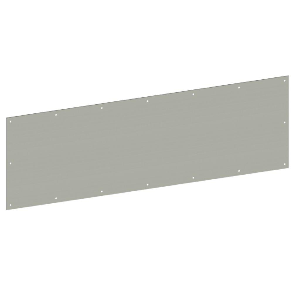 Hager 12 in. x 34 in. Stainless Steel Kick Plate for Commercial or Residential Doors