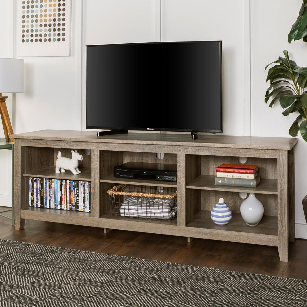Walker Edison Furniture Company Essential Driftwood Entertainment Center