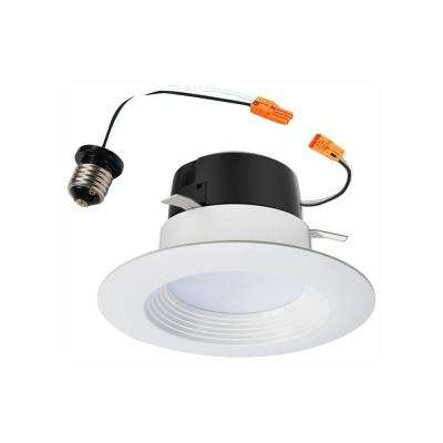 LT 4 in. 2700K Integrated LED White Recessed Ceiling Light Retrofit Trim, Warm White