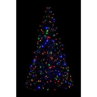 indooroutdoor pre lit led artificial christmas tree with green frame - Home Depot Christmas Decorations For The Yard