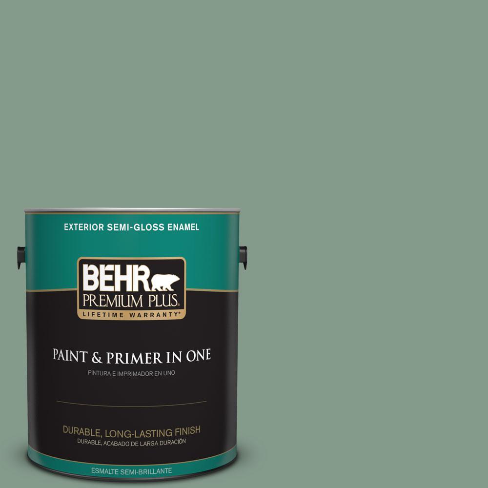 BEHR Premium Plus 1-gal. #ECC-52-3 Hillside View Semi-Gloss Enamel Exterior Paint
