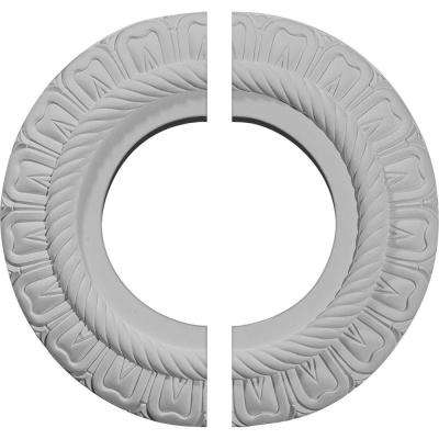 9 in. O.D. x 4-1/2 in. I.D. x 1/2 in. P Claremont Ceiling Medallion (2-Piece)