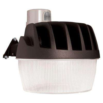 Bronze Outdoor Integrated LED Security Area Light with Replaceable Dusk to Dawn Photocell, 3500 Lumens, 5000K Daylight