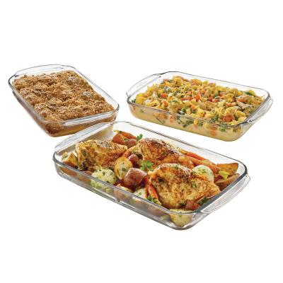 Baker's Basics 3-Piece Clear Glass Pan Set