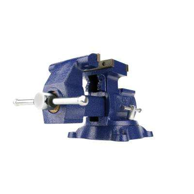 Reversible Mechanics Vise 5-1/2 in. Jaw with Swivel Base