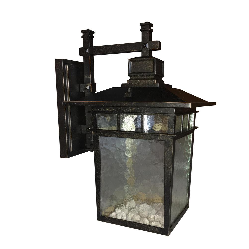 Cullen 1-Light Imperial Black Outdoor Wall Mount Lantern