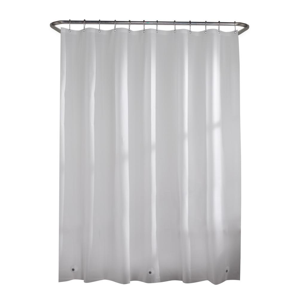 2 Pack Shower Curtain Liners,PEVA Shower Curtain with Heavy Duty Clear