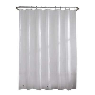 PEVA Medium 5-Gauge 70 in. W x 72 in. H Shower Curtain Curtain Liner in Frosted