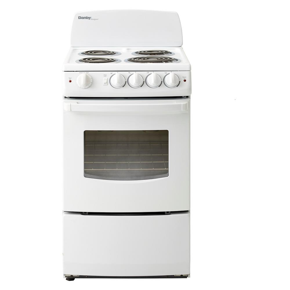 20 in. 2.4 cu. ft. Single Oven Electric Range with Manual