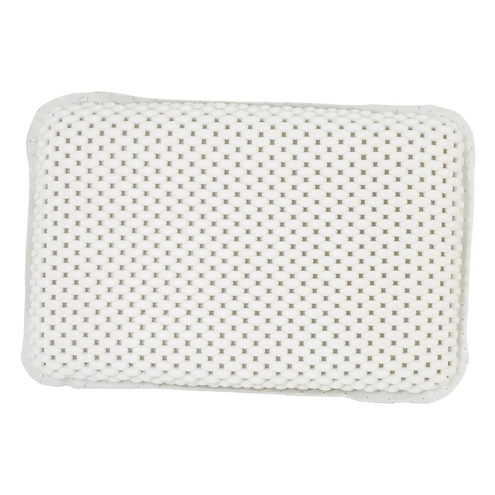 Bath Bliss 7 in. x 11 in. Foam Bath Pillow