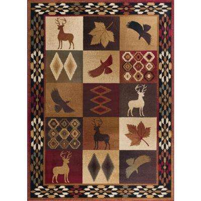 Nature Multi 7 ft. 10 in. x 10 ft. 3 in. Lodge Area Rug