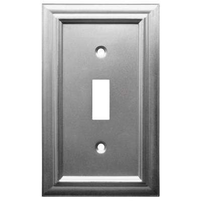 Continental 1 Toggle Wall Plate - Satin Nickel
