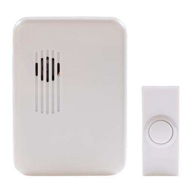 Wireless Plug-In Door Bell Kit with 1-Push Button in White