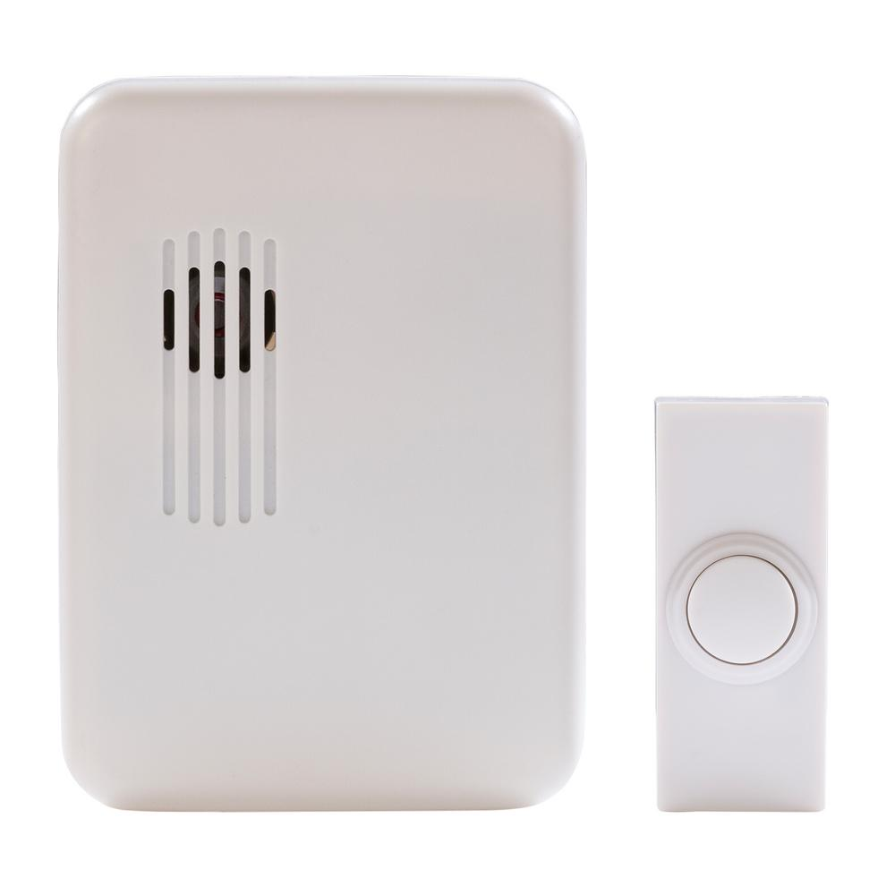 Hampton Bay Wireless Plug-In Door Bell Kit with 1-Push Button in ...