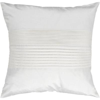 Virgili White Solid Polyester 22 in. x 22 in. Throw Pillow