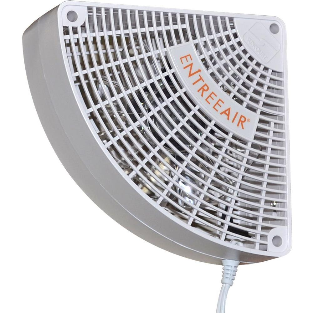 Entreeair 5 in single speed door frame fan in white rr100 for Air circulation fans home