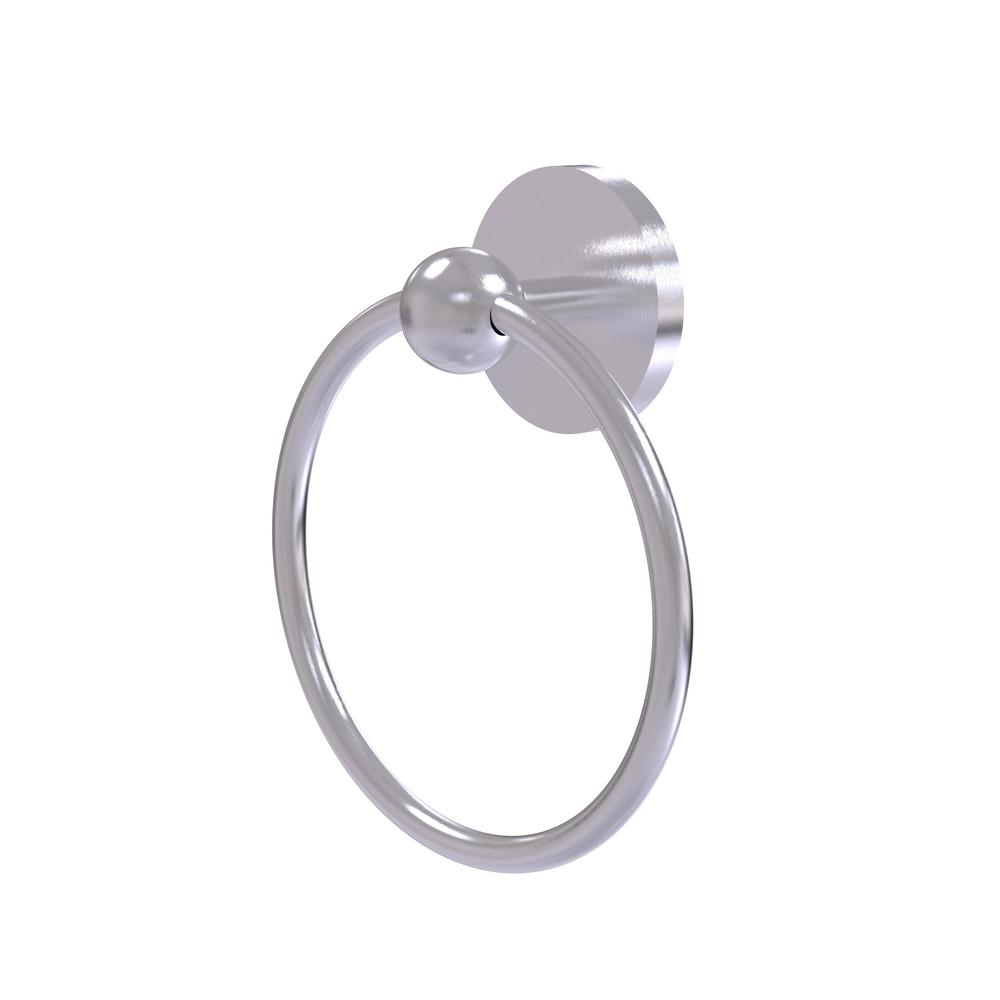Allied Brass Skyline Collection Towel Ring in Satin Chrome
