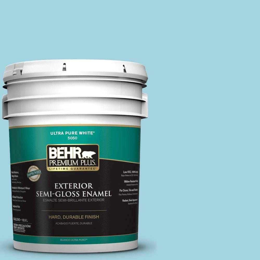 5-gal. #M470-3 Midwinter Mist Semi-Gloss Enamel Exterior Paint