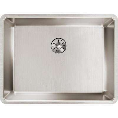 Lustertone Iconix Perfect Drain Undermount Stainless Steel 24 in. Single Bowl Kitchen Sink