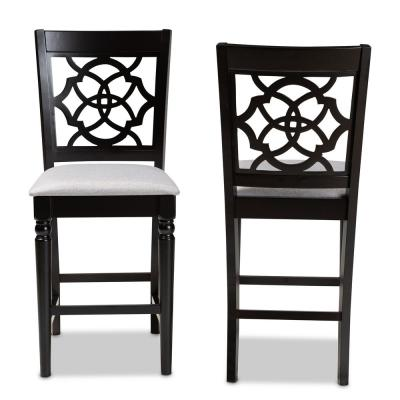 Arden 43 in. Gray and Espresso Counter Stool (Set of 2)