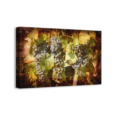 "25 in. x 16 in. ""Grapes au Bordeaux I"" Graphic Art Print on Canvas"