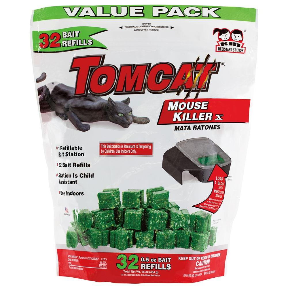 Tomcat Tomcat Mouse Killer Refillable Bait Station (32-Count)