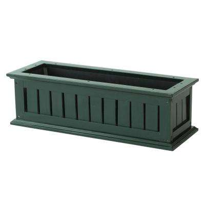 36 in. Hunter Green Nantucket Wood Window Box
