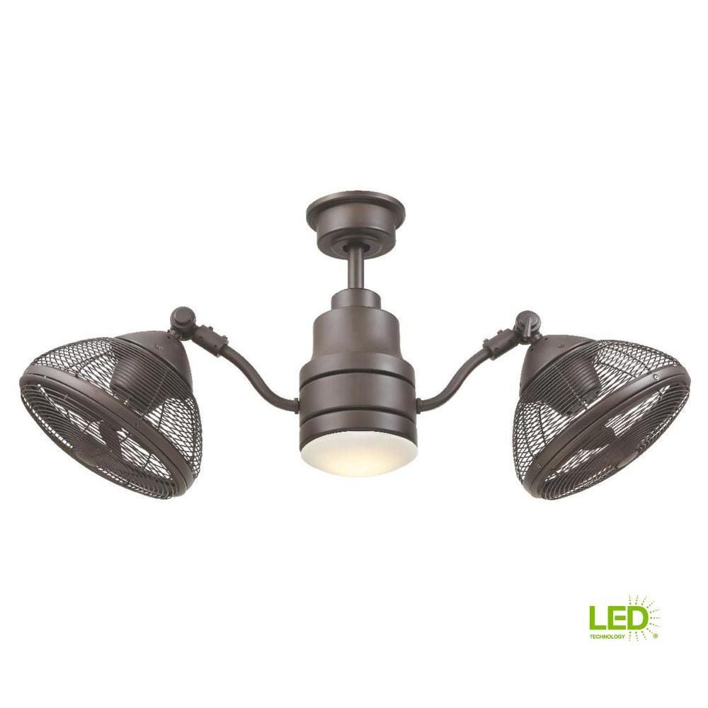 Home Decorators Collection Pendersen 42 in. LED Indoor/Outdoor Espresso Bronze Ceiling Fan with Light Kit and Remote Control