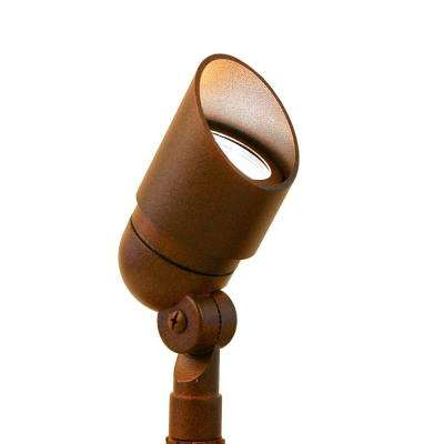Low Voltage Rust Outdoor Landscape Directional Bullet Spotlight