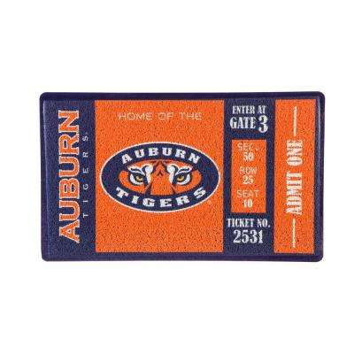 Auburn University 30 in. x 18 in. Vinyl Indoor/Outdoor Turf Floor Mat
