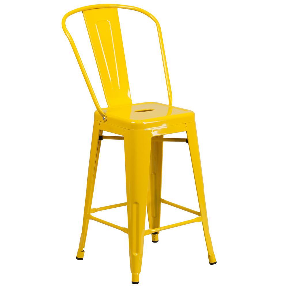 Flash Furniture 2425 in Yellow Bar Stool CH3132024GBYL  : yellow flash furniture bar stools ch3132024gbyl 641000 from www.homedepot.com size 1000 x 1000 jpeg 38kB