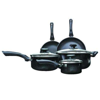 Artistry 8-Piece Black Cookware Set with Lids