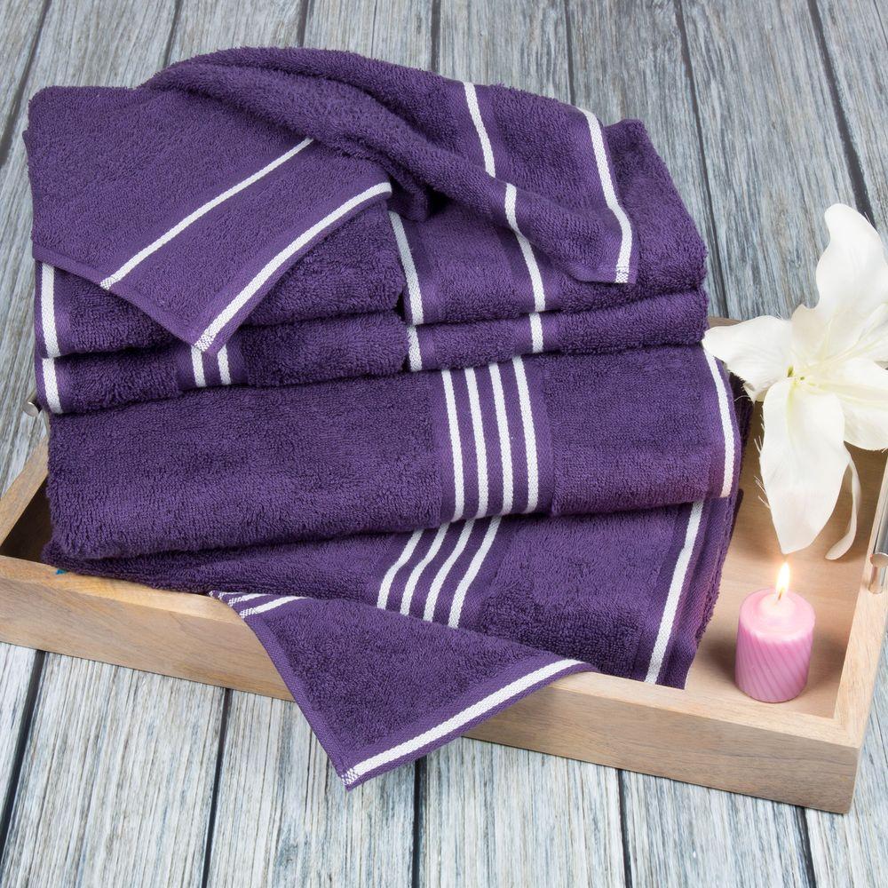Rio Egyptian Cotton Towel Set in Eggplant (8-Piece)