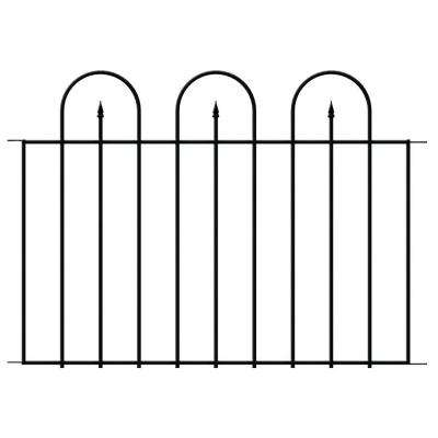Westbrook 36 in. x 48 in. Black Steel Fence Panel