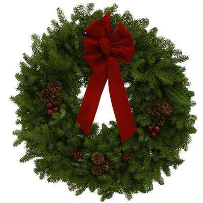 30 in. Balsam Fir Classic Fresh Wreath : Multiple Ship Weeks Available