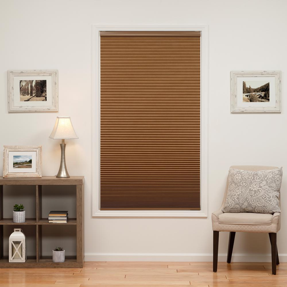 Perfect Lift Window Treatment Cut-to-Width Latte 1.5in. Blackout Cordless Cellular Shade - 34in. W x 72in. L (Actual size: 34in. W x 72in. L)