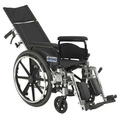 Viper Plus GT Full Reclining Wheelchair with 18 in. Seat and Full Arms