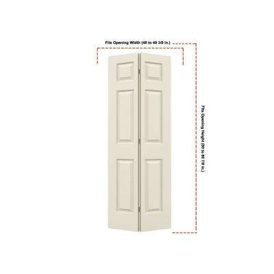 24 in. x 80 in. Colonist Primed Textured Molded Composite MDF Closet Bi-Fold Double Door