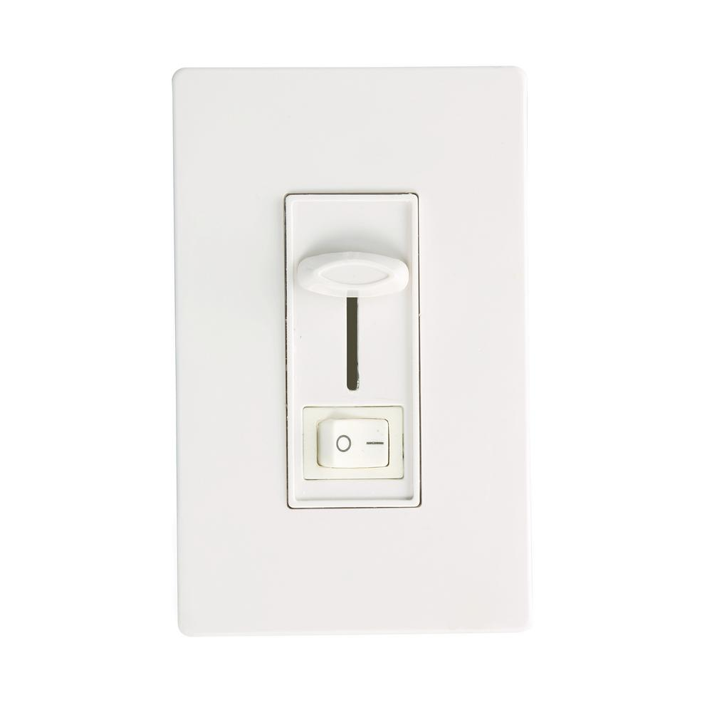 Viribright 300VA 2-Way or Single-Pole Dimming Wall Slider LED Dimmer ...