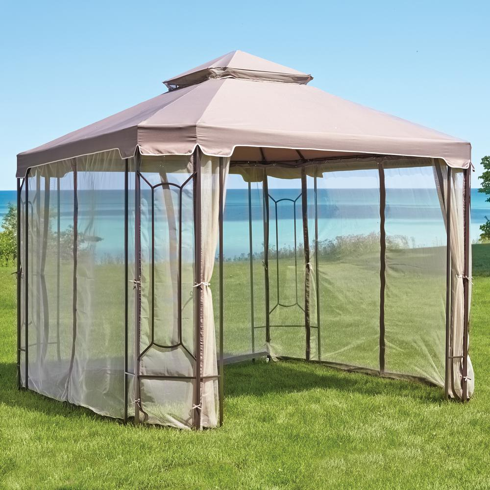 Hampton Bay Replacement Canopy Outdoor Patio For 10 Ft X 10 Ft Cottleville Gazebo