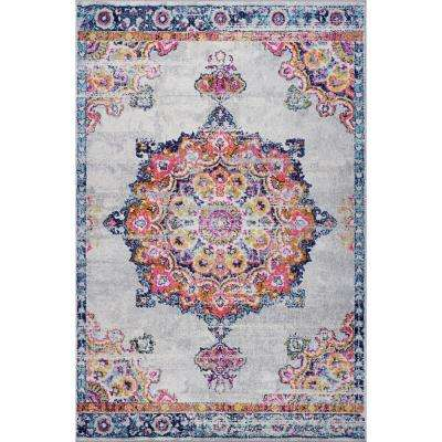 Hayden Medallion Distressed Area Rug (5'3'' x 7'10'')