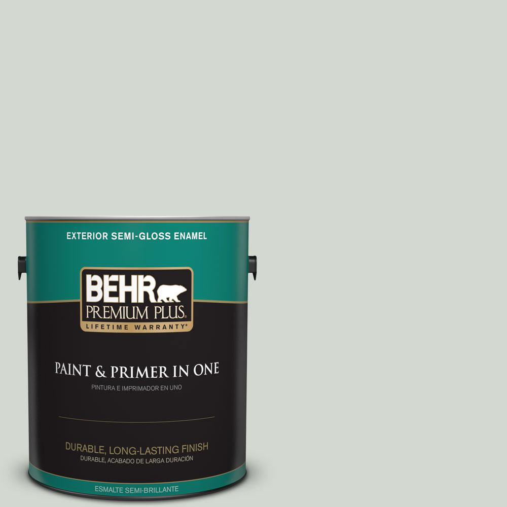1-gal. #N410-2 Brook Green Semi-Gloss Enamel Exterior Paint