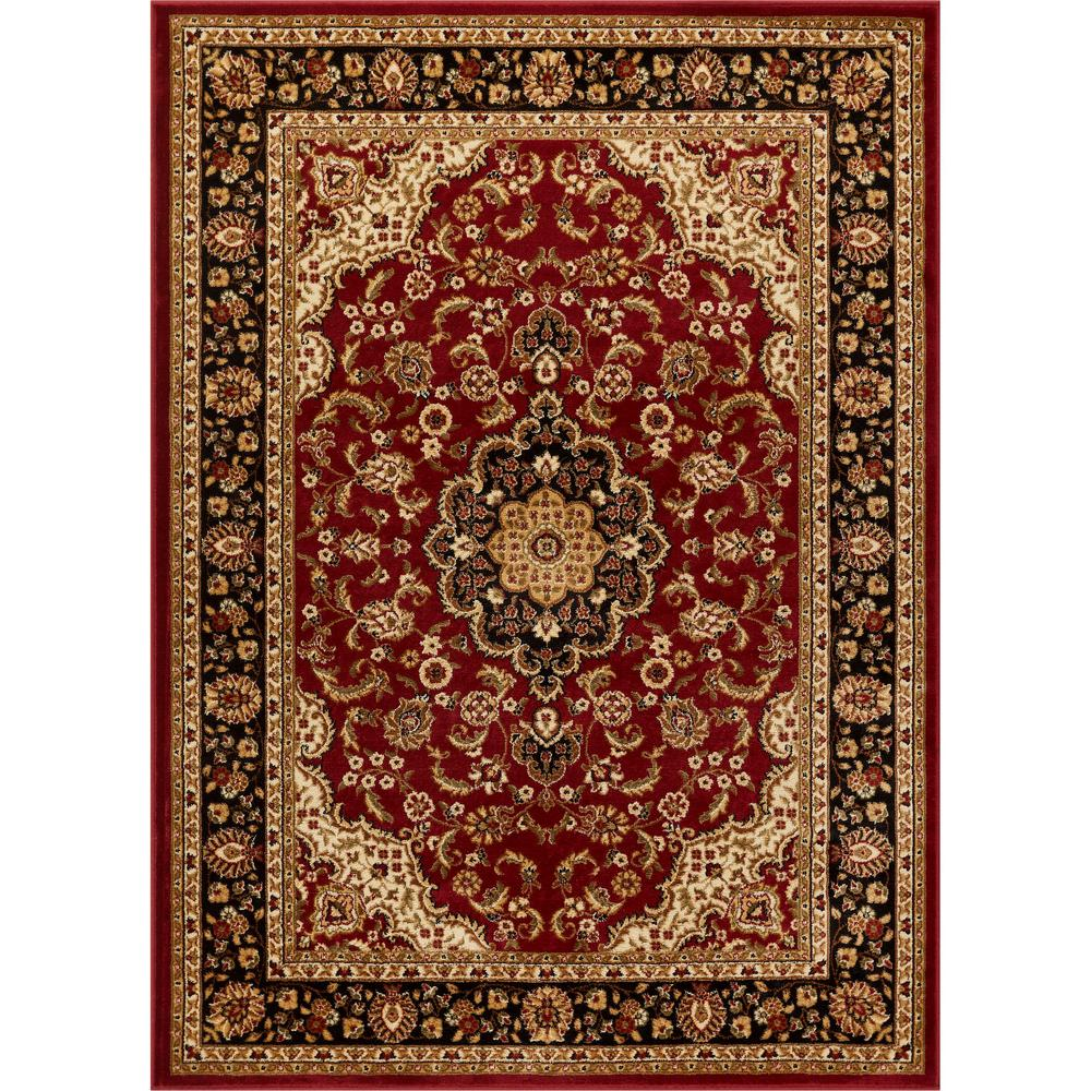 Well Woven Barclay Medallion Kashan Red 7 Ft X 10 Traditional Area Rug