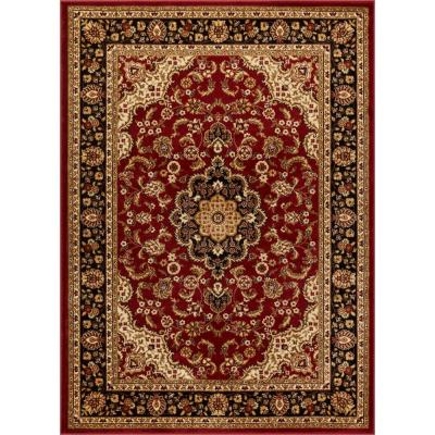Barclay Medallion Kashan Red 7 ft. x 10 ft. Traditional Area Rug